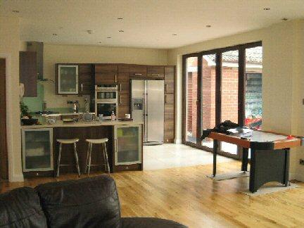 Carryduff designs open plan kitchen extensions for Open plan kitchen ideas uk