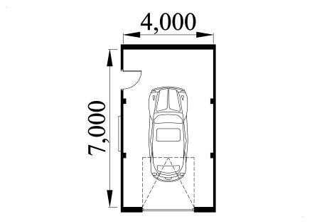 Single storey garage design 4070a for Kitchen design 4m x 4m
