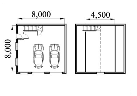 Full construction drawings for garage plans for 2 and a half car garage dimensions