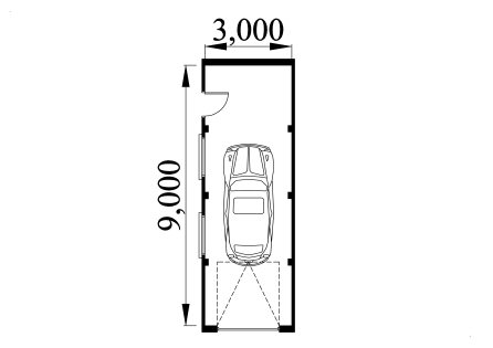 Single Storey Garage Design 3090A